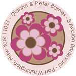Name Doodles - Round Address Labels/Stickers (Bella Bold)